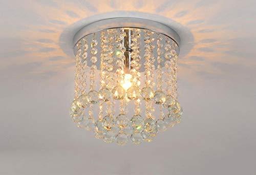 WY-YAN Las luces del techo, de ahorro de energía llevó la lámpara cristalina de lujo pequeño simple pasillo de la escalera Pasillo K9 lámpara, la gotita de montaje del rubor del techo, B-25 cm - 12 W