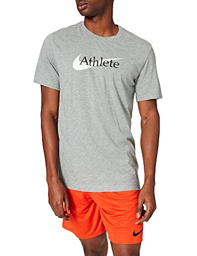 NIKE Dri-FIT, Camiseta Hombre, Dk Grey Heather, M