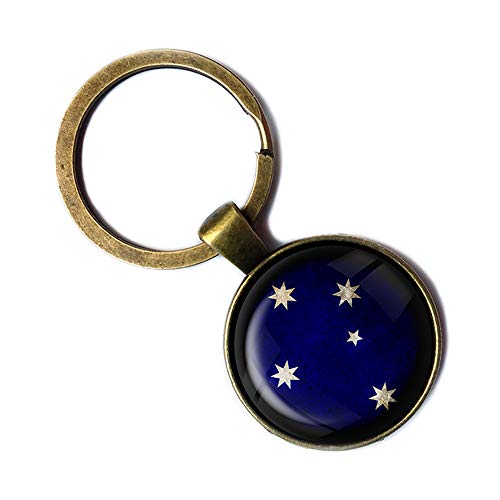 Australia Australian Southern Cross Australien Australisches Kreuz des Südens Keychain Bronze Schlüsselanhänger