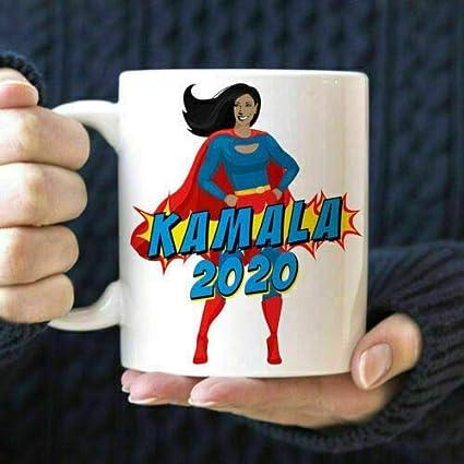 N\A Kamala Harris 2020 Taza de café Kamala Superhero Microondas Apta para lavavajillas Cerámica