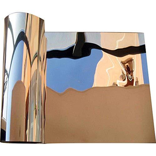PULABO 2 Stück Spiegel Wandaufkleber, Silber reflektierende Solarfolie, dekorative Spiegelfolie, Dekoration Wohnzimmer Wandtattoo, dekorative Wandaufkleber selbstklebend, 60x100cm langlebig und prakt