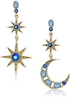 Betsey Johnson Women's Moon and Star Drop Earrings