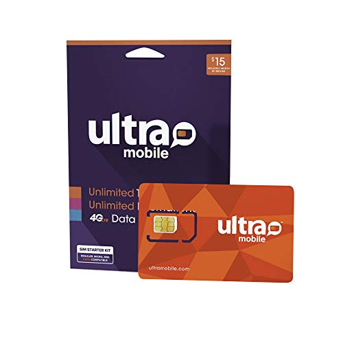 $15 Ultra Mobile Phone Plan | Unlimited Talk & Text + 250MB 5G • 4G LTE Data (3-in-1 GSM SIM Card)