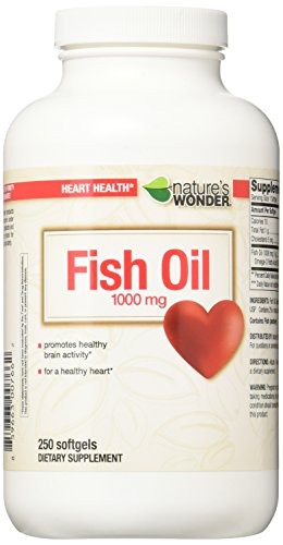 Nature#039s Wonder Fish Oil 1000mg Nutritional Supplement 250 Count