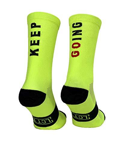 Calcetines Deportivos Técnicos Compresivos, diseñados para el Alto Rendimiento en la Práctica Deportiva de Running, Ciclismo, CrossFit, Gimnasio.Coolmax,Termorregulador y antibacteriano. (39)