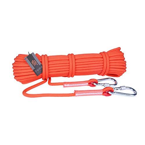 WYX Outdoor Rock Kletter-Rope Survival Fire Escape Safety Equipment Carabiner Durchmesser 9,5mm Camping Bergsteigen,Orange,50M