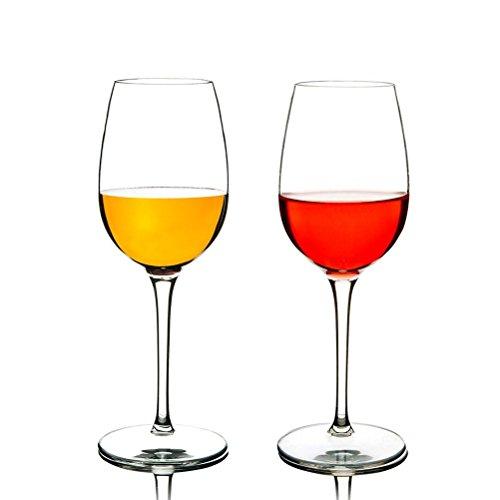 Liyao Unzerbrechliche Weingläser 2er Set 355ml Rotweinglas Tritan-Kunststoff bruchsicher Weinbecher BPA-frei Spülmaschinenfest
