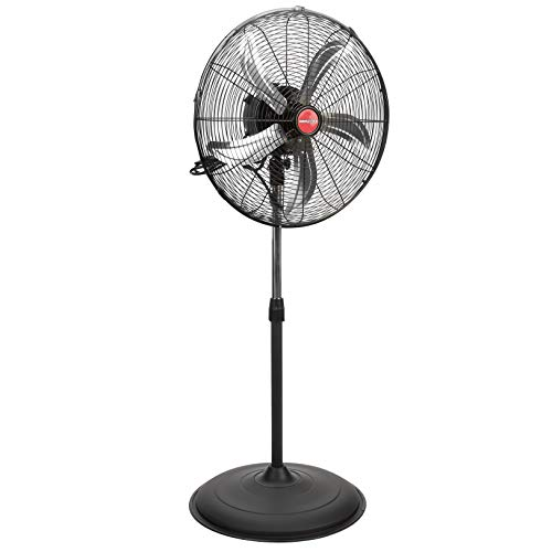 OEMTOOLS 20 Inch Oscillating Pedestal, Old Model Commercial Fan, 4400 CFM, Black