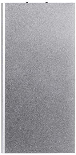 Batteria Esterna Piatta per Xiaomi Mi 9T PRO Smartphone Tablet Caricabatterie Universale Power Bank 6000 mAh 2 Porte USB (Argento)