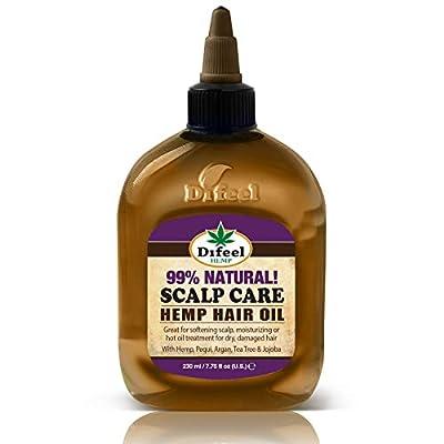 Difeel Hemp 99% Natural Hemp Hair Oil - Scalp Care 7.78 ounce