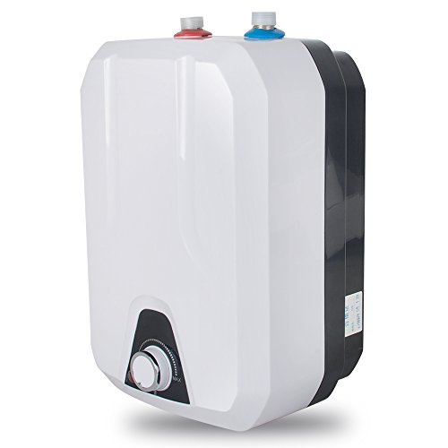 Zinnor Electric Hot Water Heater, 110V 1500W 8L Electrical Hot Water Heater - Adjustable Temperature from 55℃-75℃ - Best for Kitchen, Rest Room, Household - USA Shipping