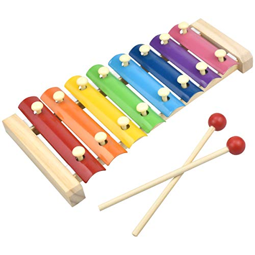 HQDeal Hand Knock Xylophone Percussion Wood Xylophone for Educationalamp Preschool Learning Music Enlightenment for Toddlers Children