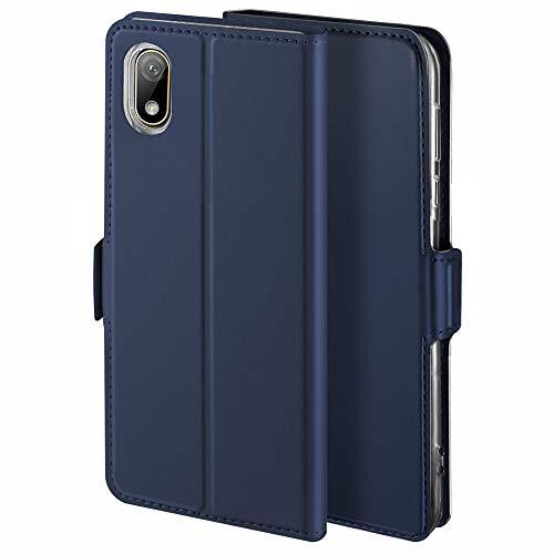 YATWIN Handyhülle für Huawei Y5 2019 Hülle Premium Leder Flip Hülle Schutzhülle für Huawei Y5 2019 / Honor 8S Handytasche, Blau