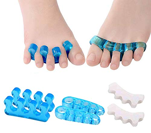 Gel Toe Separators, Toe Streightener for Relaxing Foot Pain, Bunions, Hammer Toes, Plantar Fasciitis, Hallux Valgus(6Pcs)