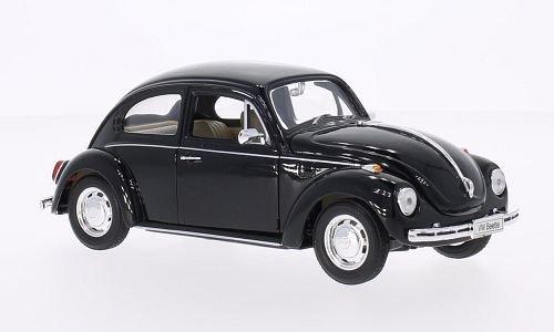 VW Käfer, schwarz, Modellauto, Fertigmodell, Welly 1:24