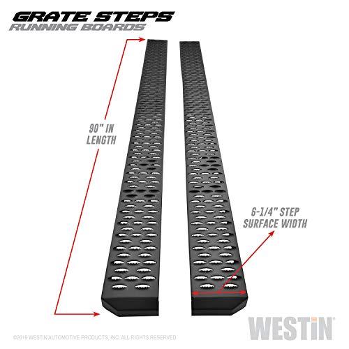 Westin Textured Black Grate Steps Running Boards Textured Black Running Boards 90 inches
