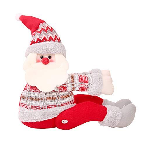 Surenhap Fibbia della Tenda Gancio di Fissaggio fermatenda Forniture Babbo Natale Regali di Natale Tenda Decorazione (Babbo Natale)