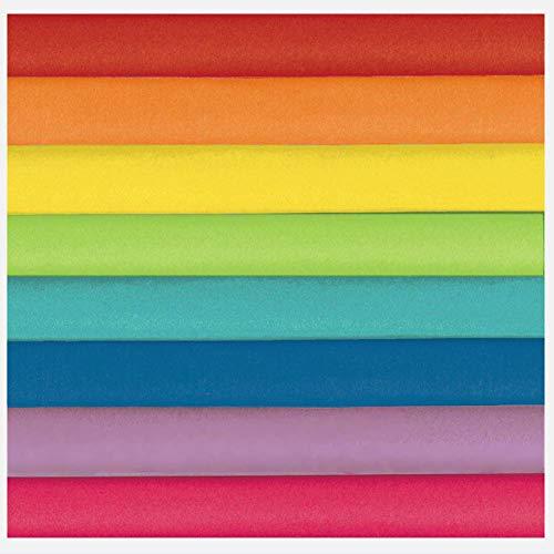 Rainbow Mix papel de seda – 20 pulgadas x 20 pulgadas.