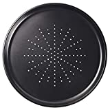 Webake Vented Pizza Pan 12 Inch with Holes Pizza Crisper Tray Non-stick Coating on Carbon Steel Round Pizza Plate for Oven, Perforated Baking Sheet for Home Restaurant Kitchen