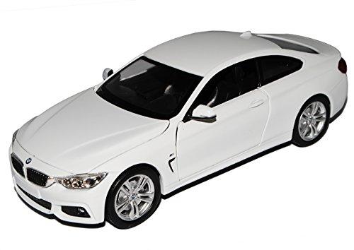 B-M-W 4er F32 Coupe Weiss M Sportpaket Ab 2013 1/24 New Ray Modell Auto mit individiuellem Wunschkennzeichen