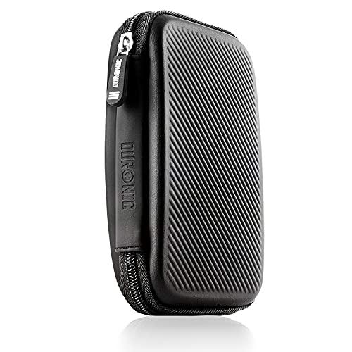 Duronic HDC2 Nero Custodia Hard Disk Esterno - Custodia in Alluminio Portatile per Hard Disk Esterno e Cavi - Leggero e Protettivo - Adatto per Western Toshiba Buffalo Hitachi Seagate Samsung