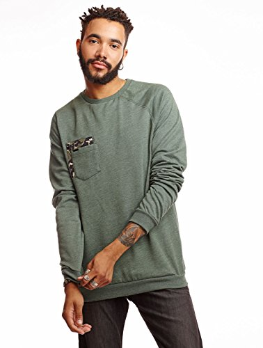 Volcom Sprocket Pocket Crew Sweat-Shirt Homme, Vert (Jungle Green), Small (Taille Fabricant: S)
