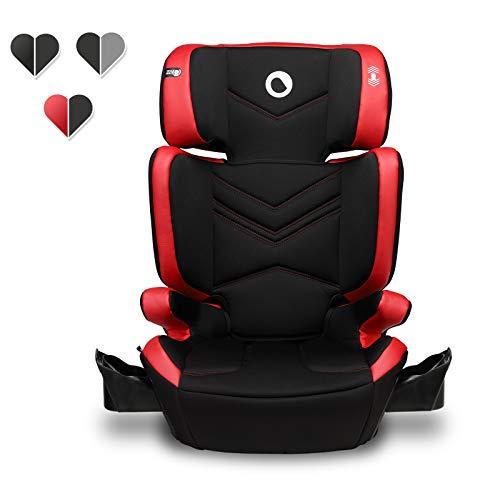 Lionelo Hugo Kindersitz mit ISOFIX, Autositz Gruppe 2-3 (15-36 kg), Sitzerhöhung, ECE R44/04 (Rot)