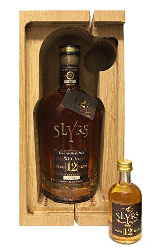 Slyrs Bavarian Whisky - 12 Jahre in HOLZKISTE (Jahrgang 2005) 0,7 Liter