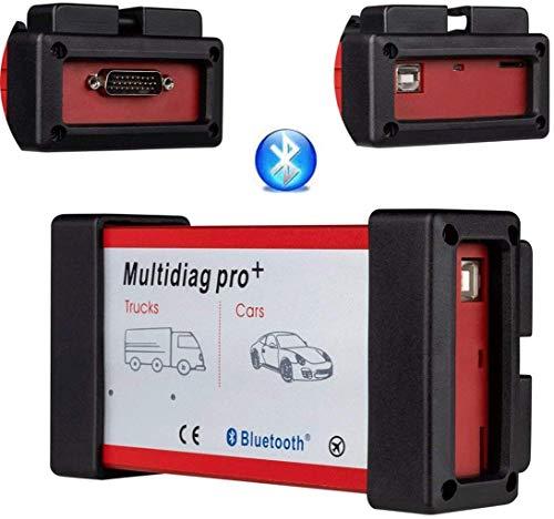 QMZDXH OBD-II Bluetooth,OBD-Ii Simulator,Multidiag Pro + Cdp Tcs Bluetooth Und Cdp Pro 2015.r3 Keygen OBD2 V3.0 Selbstscanner, Einfach Zu Tragen, Schnelldiagnose