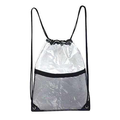 Egosy Transparente Kordelzug Tasche Turnbeutel Festival Bag durchsichtig Rucksack Sportbeutel Transparent Kordelzug für den Außenbereich