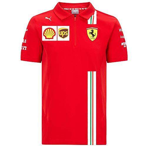 2020 Scuderia Ferrari F1 Team T-Shirts Vettel Leclerc in Herren-, Damen-, Kindergrößen, Ferrari F1 Team Polo, Ladies (XL) UK 16 / Chest 101cm