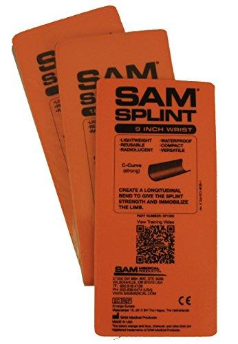 SAM Splint 3X Combo Pack Orange/Blue Flat by Rescue Essentials by SAM Medical