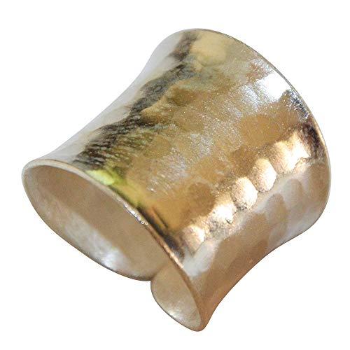 Silberring offen verstellbar breit 18-20 mm Schuppen Muster Ring 925er Sterling Silber Schmuck Ringe