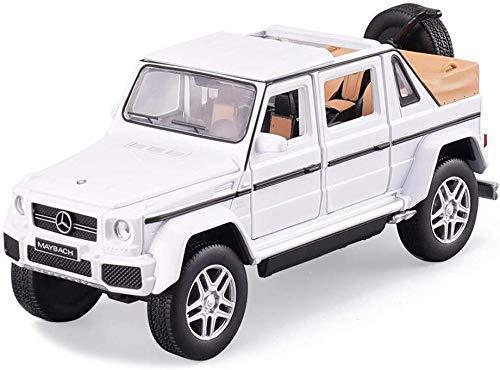 Modelo de Coche Modelo de Coche Simulación Coche Deportivo Sonido y música Ligera Volver al Coche de aleación Coche de Juguete 1: 32 Compatible con Mercedes Benz G650 (Color: Blanco)
