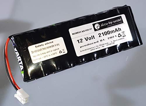 Ersatz-Akku geeignet für Rollladensteuerung NiMH Varta AA 12 V / 2100mAh - Geeignet für Dachfenster, Rolladen, ROTO ZEL 12V/2,1 Ah WDT-S RT2 SF G2/G3/G4 Roto Akku