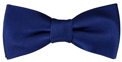 Kleinkinder Baby Seidenfliege in royal blau mit Gummizug 29 bis 40 cm Halsumfang verstellbar + Aufbewahrungsbox