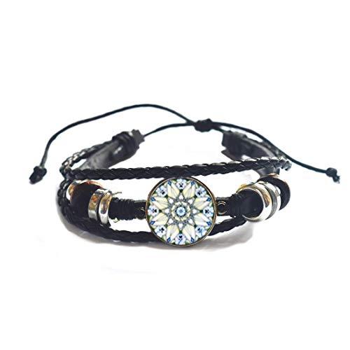 Flor de la Vida Pulsera Om Yoga Pulsera Mandala Moda Cristal Cúpula Sagrada Geometría Mujeres Joyería,PU111