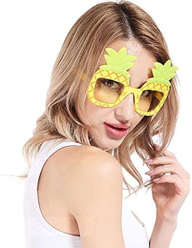 XGBDTJ- Unisex Mujeres Y Hombres Mix Vida de Moda 2 Colores Conjunto De 2 Fiestas De Playa Gafas De Sol Tropical De La Piña Hawaiana Del Partido Vidrios Divertidos Para Los Regalos De Boda Invitados