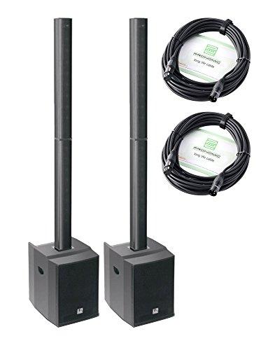 LD-Systems Maui 28 Aktivanlage Stereo SET (2 x LD-Systems Maui 28, 2 x 10 m Mikrofonkabel, Vertical Array System, 200 Watt) schwarz
