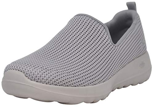 Skechers Women's Go Walk Joy Centerpiece Sneaker, Light Grey, 8 M US