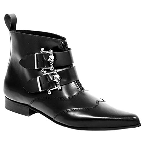Boots & Braces Pikes Silver Skull Buckles