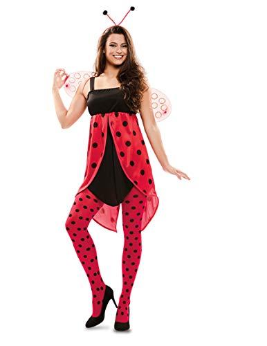 Generique - Süsses Marienkäfer-Kostüm für Damen Faschingskostüm schwarz-rot M / L