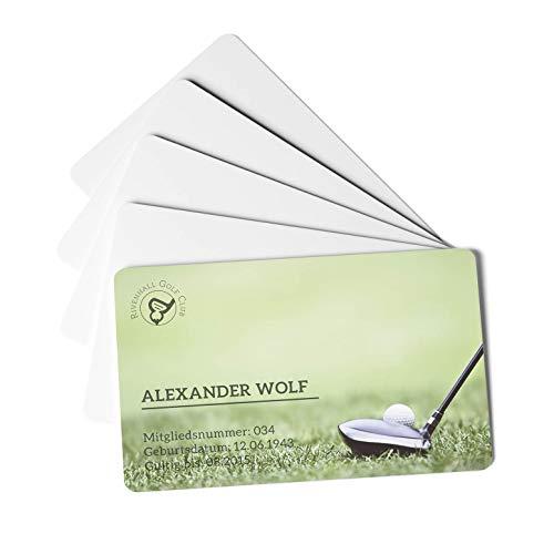 Durable 891502 Plastikkarten Duracard Standard bedruckbare Ausweiskarten 100 Stück weiß