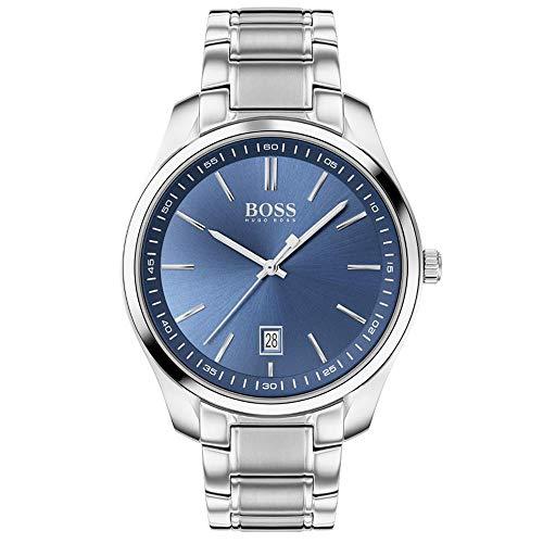 Hugo Boss Herren Analog Quartz Uhr mit Edelstahl Armband 1513731