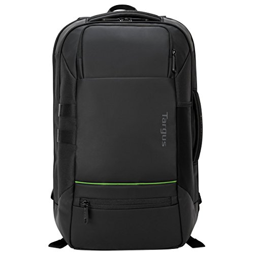 Targus Balance EcoSmart Travel and Checkpoint-Friendly Laptop Backpack Made from Recycled Weather Resistant & PVC-Free Material, Suspension Protection for 15.6-Inch Laptop, Black (TSB921US)