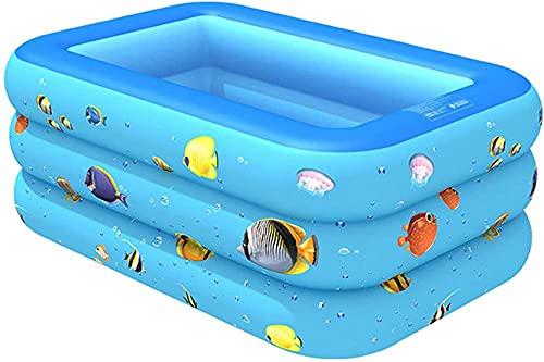 WTTCD Piscina Inflable para Niños Piscina Rectangular Familiar sobre El Suelo Adecuado para Jardín Familiar Patio Trasero Al Aire Libre Verano 130 * 90 * 50Cm-150Cm