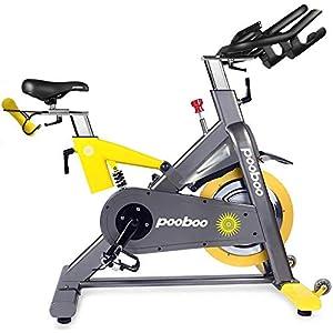 pooboo Commercial Standard Exercise Bike Magnetic Resistance Stationary Bike Indoor Cycling Bike Belt Drive Bike