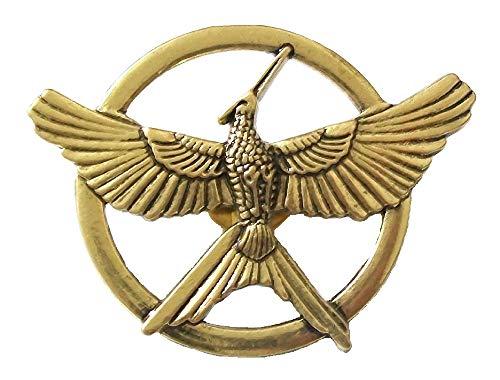 Broche réplica de Sinsajo de los juegos del hambre, insignia de homenaje para disfraz, joyería unisex – bronce antiguo