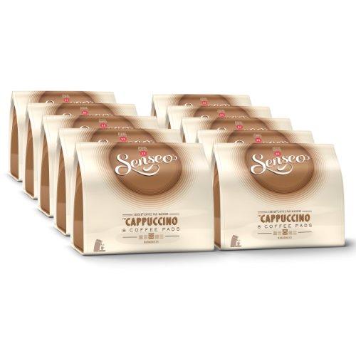 Senseo Kaffeepads Cappuccino, Milchschaumklassiker, Kaffee, neues Design, neue Rezeptur, 10er Pack, 10 x 8 Pads