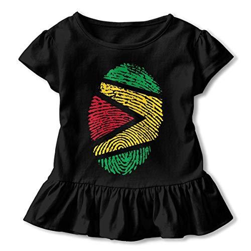 Guyana Flag Ideas Only On Pinterest Girl'S Short Sleeve Ruffles Shirt tee